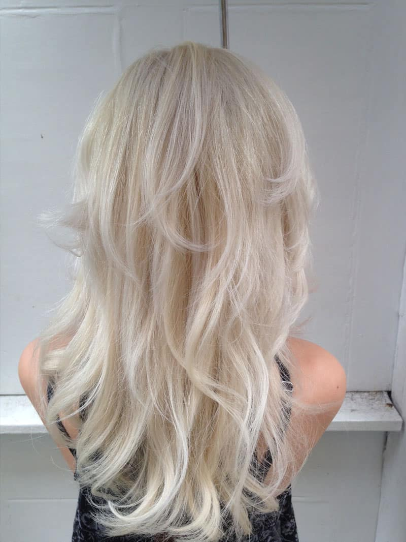 White Blonde hair after styling